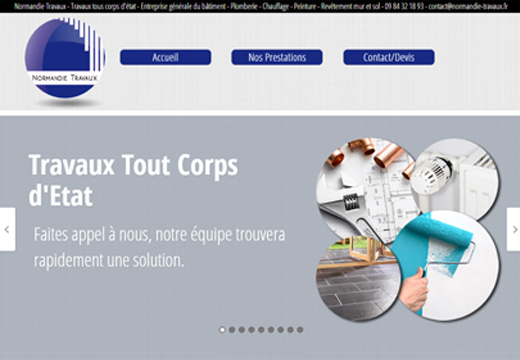 conception site internet normandie travaux