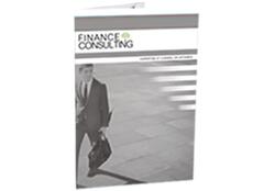 Réalisation pochette design pour finance consulting