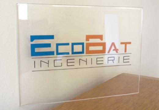 Présentoir plexiglas Ecobat