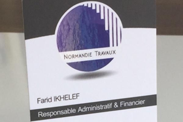 Cartes De Visites Haut Gamme Societe Normandie Travaux