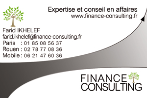 conception carte société consulting recto