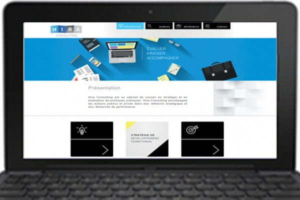 Page accueil site hira consulting