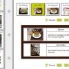 site internet avec gestion de la carte et des menus